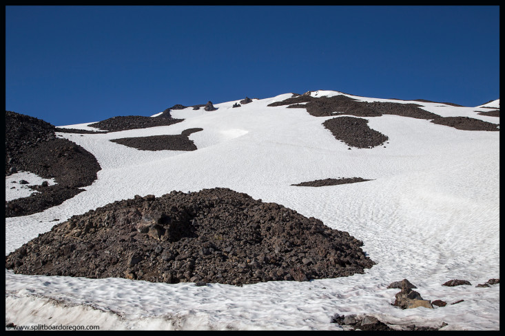 Snowfields below the Cirque Bowl