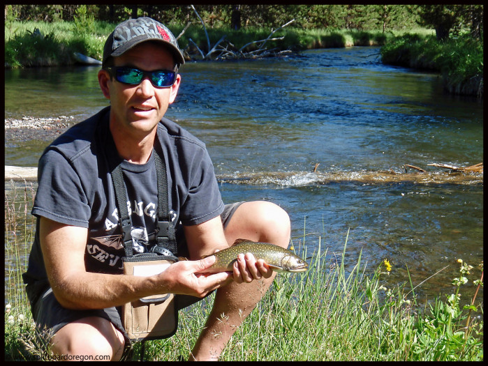 Andy with a nice Brookie