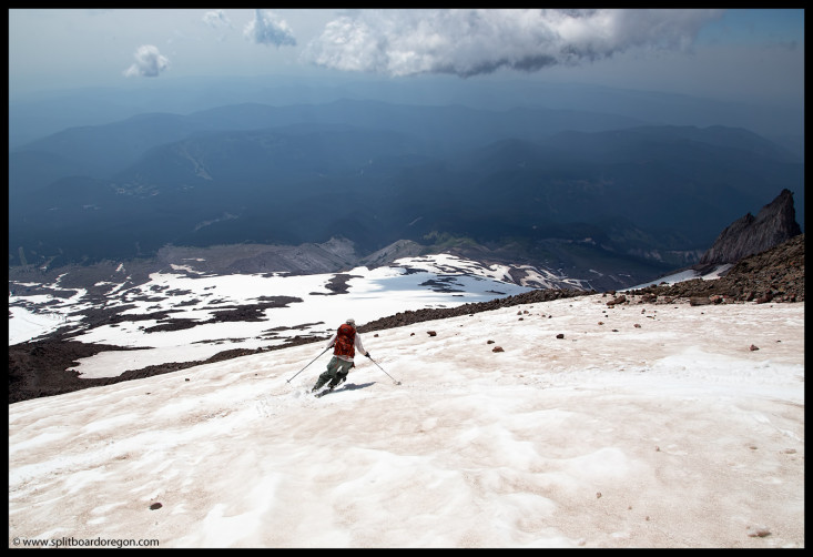 Dan skiing above the Zigzag