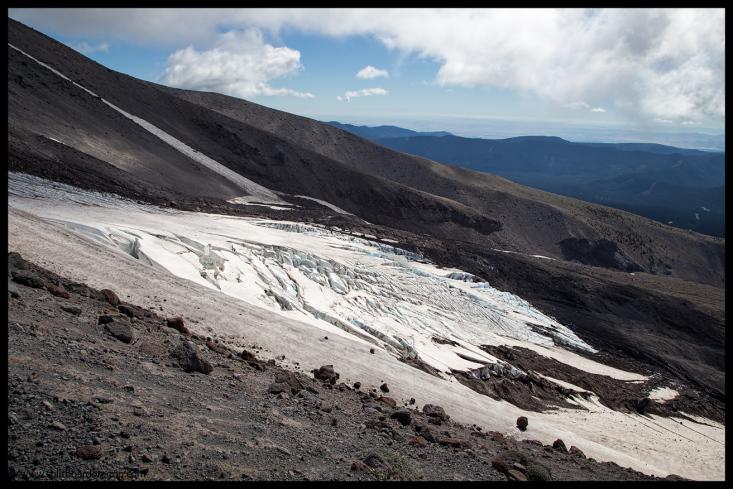 The lower White River Glacier