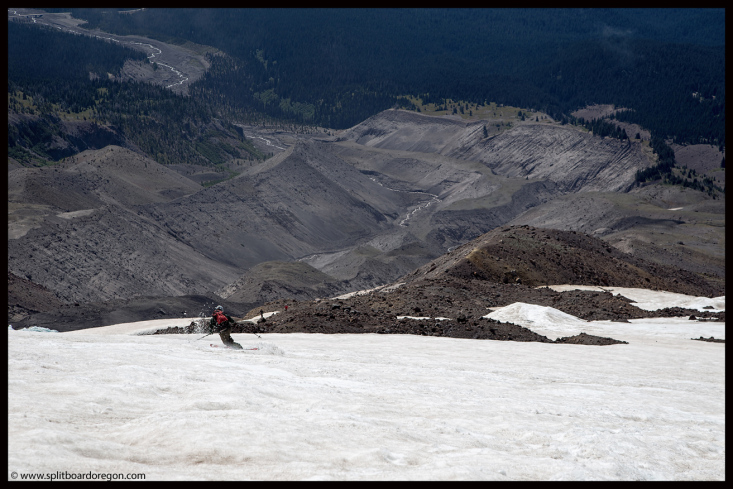 Tele turns on the White River Snowfield