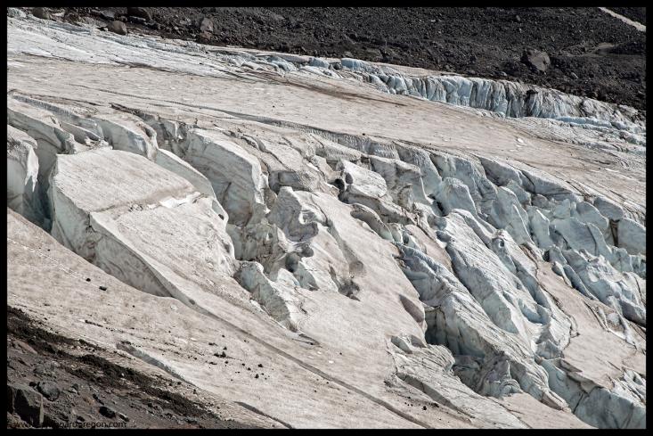 Cracks on the glacier