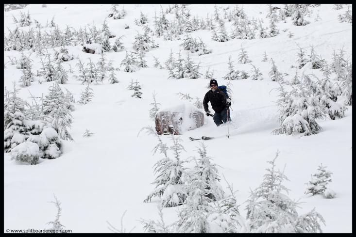 Joe skiing June's