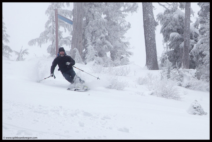 Joe enjoying the pow