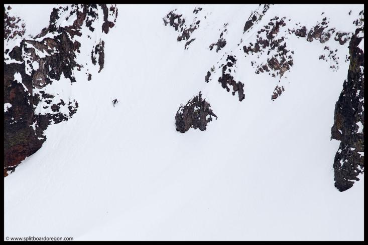 Joe skiing