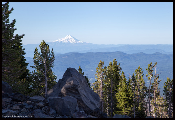 Looking south at Mt Hood