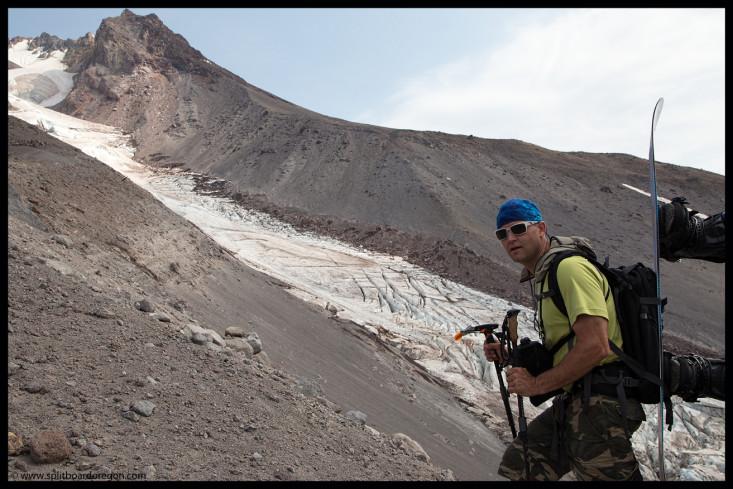 Climbing adjacent to the White River Glacier