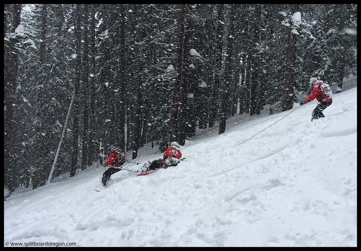 Sloppy sled running