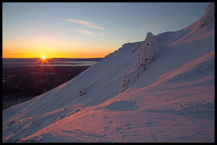 Sunrise over the Cirque Bowl